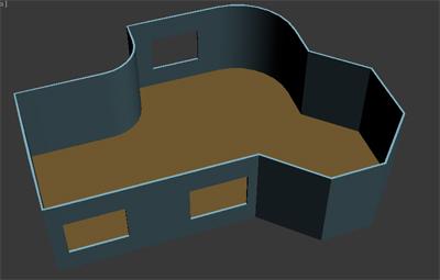 Наложение текстуры на стены комнаты в 3Ds max